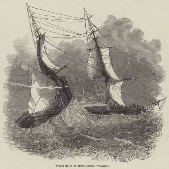 Wreck of Hm Steam-Vessel Flamer--Giclee Print