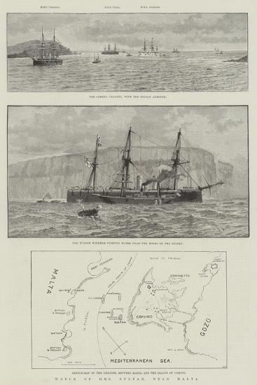 Wreck of HMS Sultan, Near Malta--Giclee Print