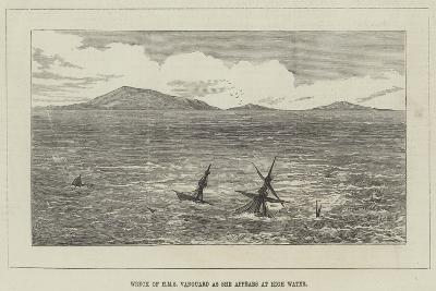 Wreck of HMS Vanguard as She Appears at High Water--Giclee Print