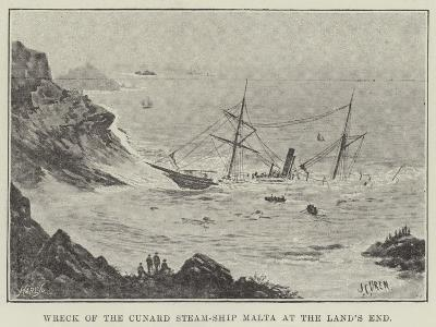 Wreck of the Cunard Steam-Ship Malta at the Land's End--Giclee Print