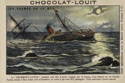 Wreck of the Drummond Castle Off Ushant, France, 16 June 1896--Giclee Print