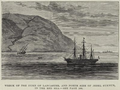 Wreck of the Duke of Lancaster, and North Side of Jebel Sukhur, in the Red Sea--Giclee Print