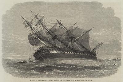 Wreck of the Duncan Dunbar, Australian Passenger Ship, on the Coast of Brazil--Giclee Print