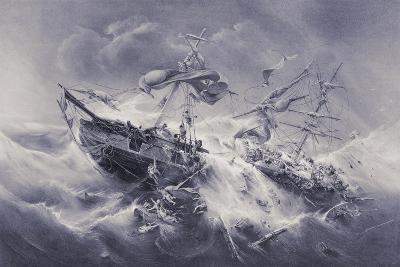 Wreck of the Floridian 1849-Jacob Albrecht Michael Jacobs-Giclee Print