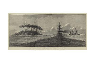 Wreck of the French War-Steamer L'Hermite, on Wallis Island, Pacific Ocean--Giclee Print