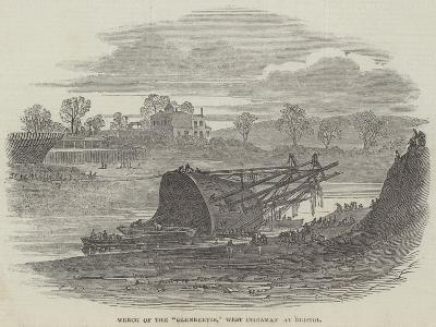 Wreck of the Glenbervie, West Indiaman at Bristol--Giclee Print