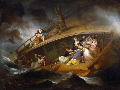Wreck of the Halsewell-George Morland-Giclee Print