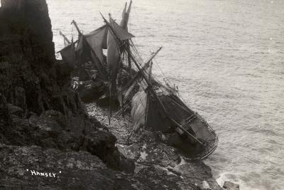 Wreck of the Hansy, Housel Bay, the Lizard, Cornwall, November 1911--Photographic Print