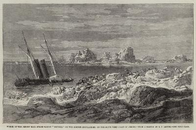Wreck of the Jersey Mail Steam-Packet Express on the Grunes Houillieres-Richard Principal Leitch-Giclee Print