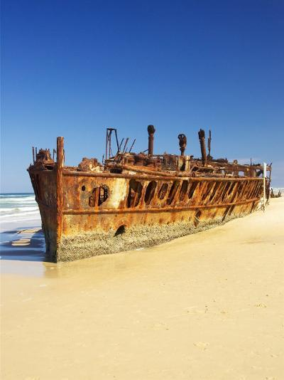 Wreck of the Maheno, Seventy Five Mile Beach, Fraser Island, Queensland, Australia-David Wall-Photographic Print