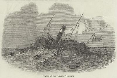 Wreck of the Superb Steamer--Giclee Print