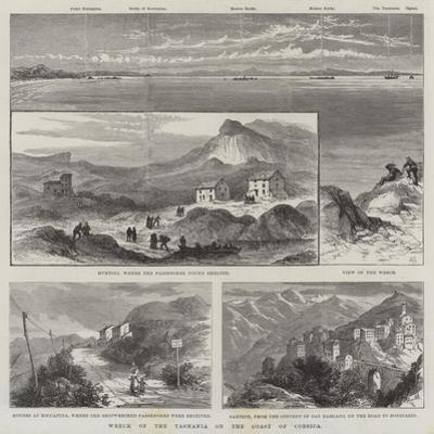 Wreck of the Tasmania on the Coast of Corsica