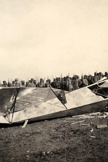 Wreckage of a Fallen Austrian Airplane in Friuli During World War I-Ugo Ojetti-Photographic Print