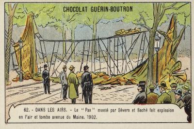 Wreckage of Severo and Sache's Airship Pax, Avenue De Maine, Paris, 1902--Giclee Print