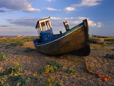 Wrecked Fishing Boat on Shingle Beach, Dungeness, Kent, England, United Kingdom, Europe-Stuart Black-Photographic Print