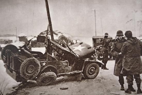 Wrecked Jeep in Which U.S. General Walker Died in a Road Collision, 23th December 1950--Photographic Print