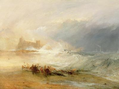 Wreckers - Coast of Northumberland, with a Steam Boat Assisting a Ship Off Shore, 1834-J^ M^ W^ Turner-Giclee Print