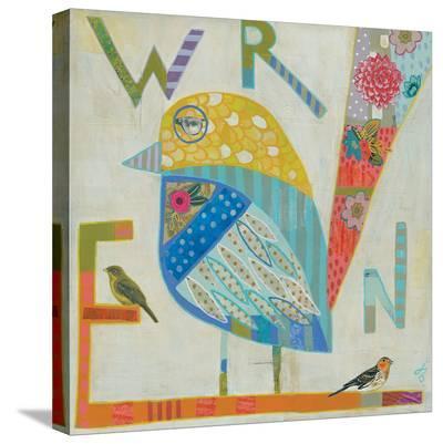 Wren-Julie Beyer-Stretched Canvas Print