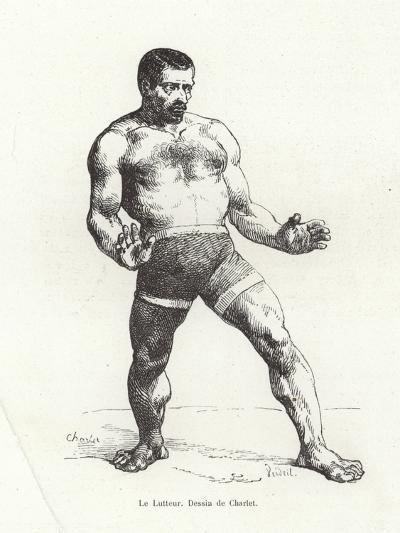 Wrestler--Giclee Print