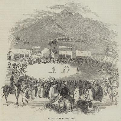Wrestling in Cumberland--Giclee Print