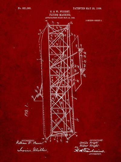 Wright Brother's Flying Machine Patent-Cole Borders-Art Print
