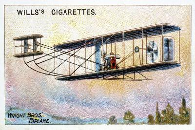 Wright Brothers' Biplane 'Flier, 1910--Giclee Print