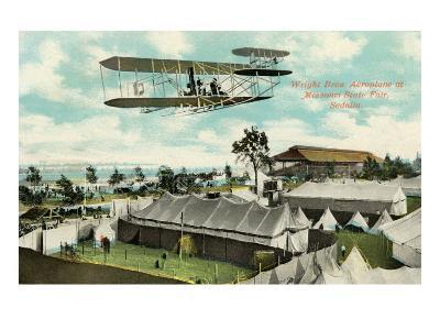 Wright Brothers Biplane, Sedalia, Missouri--Art Print