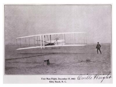 Wright Brothers Flight at Kitty Hawk--Giclee Print