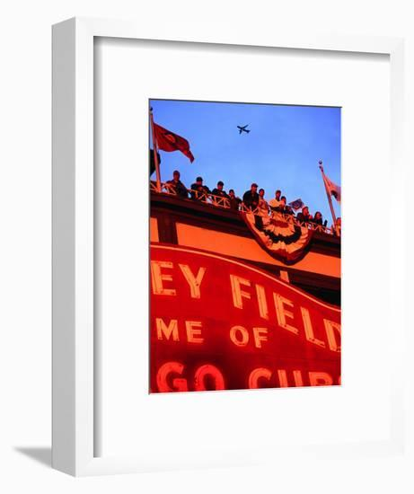Wrigley Field Baseball Crowd During the Playoffs, Chicago, Illinois-Ray Laskowitz-Framed Photographic Print