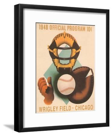 Wrigley Field Poster with Phantom Catcher