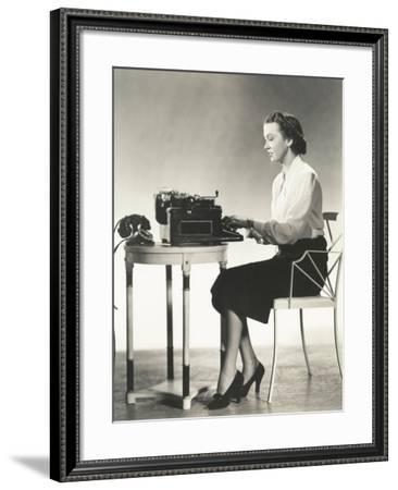 Writer at Work--Framed Photo