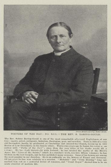 Writers of the Day, the Reverend S Baring-Gould--Giclee Print