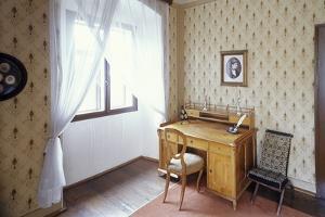 Writing Desk of Bed?ich Smetana, Jabkenice, Central Bohemia, Czech Republic
