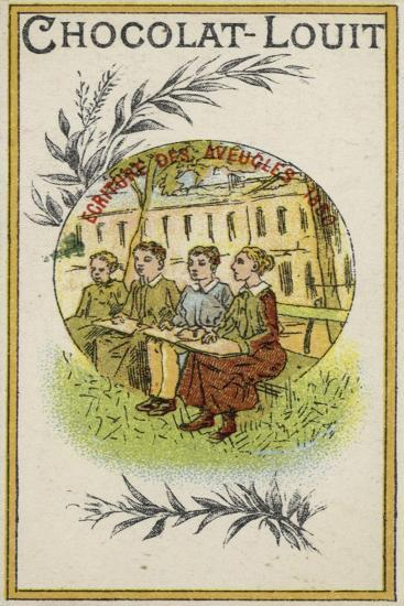 Writing for the Blind, 1830--Giclee Print