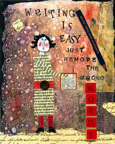 Writing is Easy-Barbara Olsen-Giclee Print