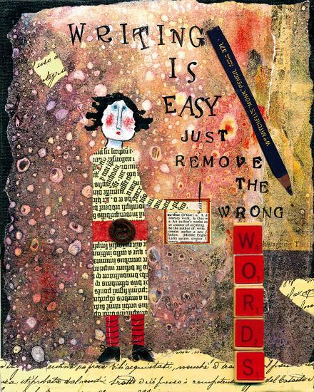Writing is Easy-Barbara Olsen-Giclee Print