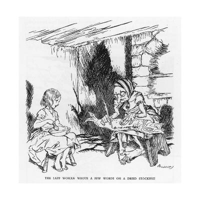 Writing on a Fish-Arthur Rackham-Giclee Print