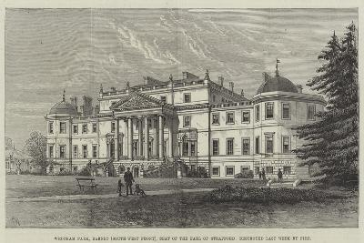 Wrotham Park, Barnet (South-West Front), Seat of the Earl of Strafford, Destroyed Last Week by Fire-Frank Watkins-Giclee Print