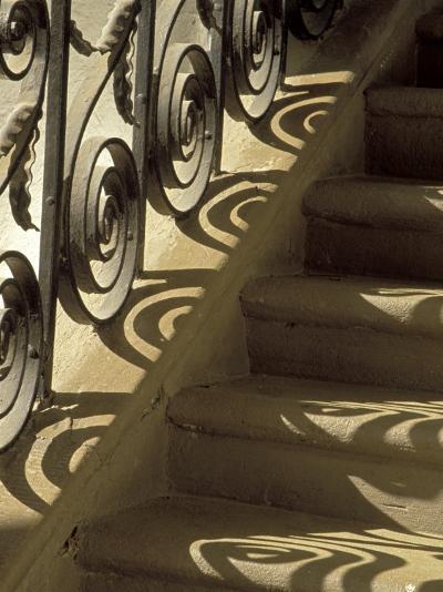 Wrought Iron Shadows, Charleston, South Carolina, USA-Julie Eggers-Photographic Print