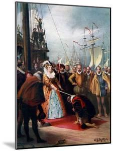 Queen Elizabeth Knighting Sir Francis Drake, 1581 by WS Bagdatopulos