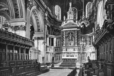The Choir and Reredos, St Paul's Cathedral, 1908-1909 by WS Campbell