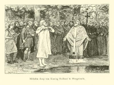 Wulfram Fails to Baptise Radbod, King of the Frisians-Willem II Steelink-Giclee Print