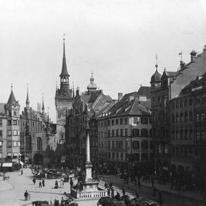 Marienplatz, Munich, Germany, C1900 by Wurthle & Sons