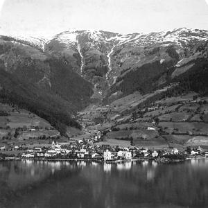 Zell Am See and Mount Schmittenhöhe, Salzburg, Austria, C1900s by Wurthle & Sons