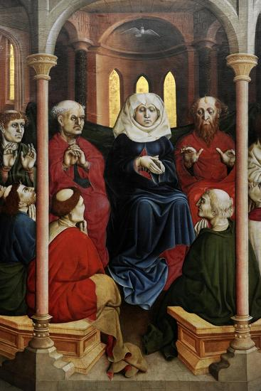 Wurzach Altarpiece, 1437. Pentecost by Hans Multscher (1400-1467)-Hans Multscher-Giclee Print