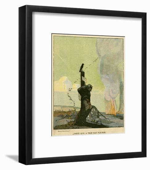WW1 Cartoon, Unmourned-Marco De Gastyne-Framed Giclee Print