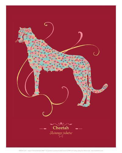 WWF Cheetah - Animal Tails-Annette D'Oyly-Art Print