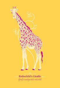 Giraffe - WWF Contemporary Animals and Wildlife Print by WWF