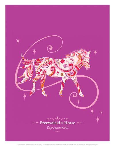 WWF Przewalski's Horse - Animal Tails-Annette D'Oyly-Art Print