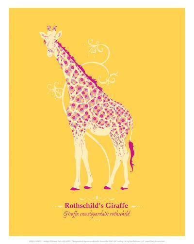 WWF Rothschild's Giraffe - Animal Tails-Annette D'Oyly-Art Print